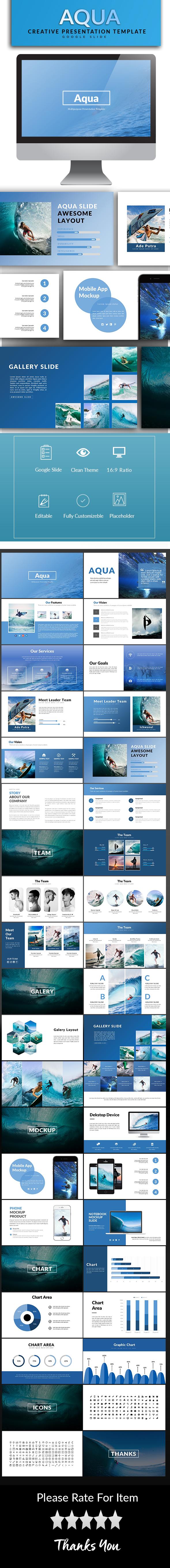 Aqua Google Slide Template - Google Slides Presentation Templates