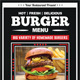 Fast Food Menu Flyer (A4)