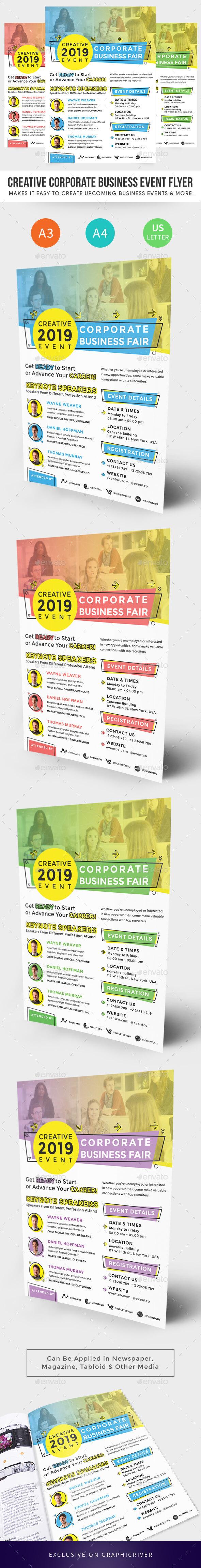 Creative Corporate Business Event Flyer - Corporate Flyers