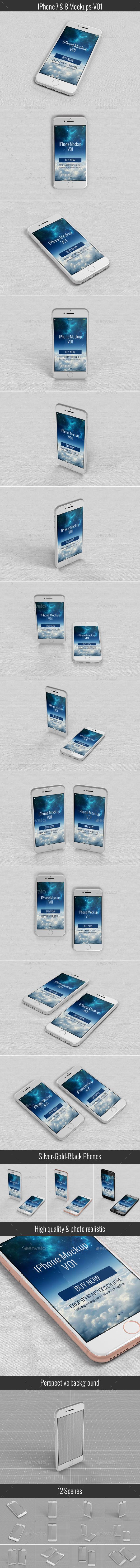 Phone Mock-Up Templates - Mobile Displays