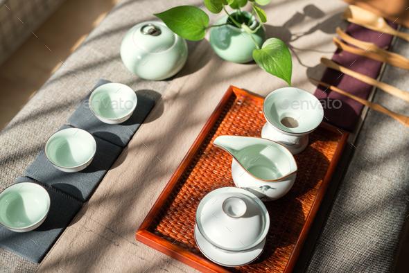 chinese tea ceremony - Stock Photo - Images
