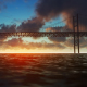 Bridge view over the Sea in the Evening - VideoHive Item for Sale
