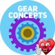 18 Flat Gear Concepts - VideoHive Item for Sale