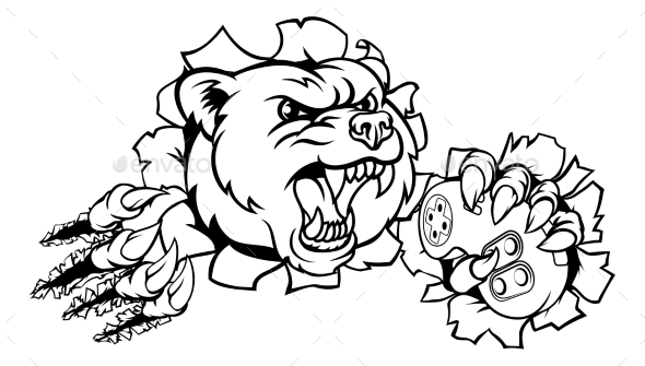 Bear Esports Mascot - Animals Characters