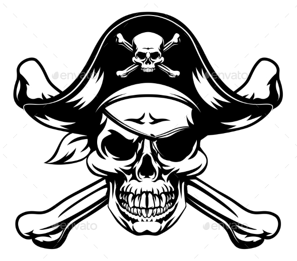 Pirate Skull and Crossbones - Miscellaneous Vectors