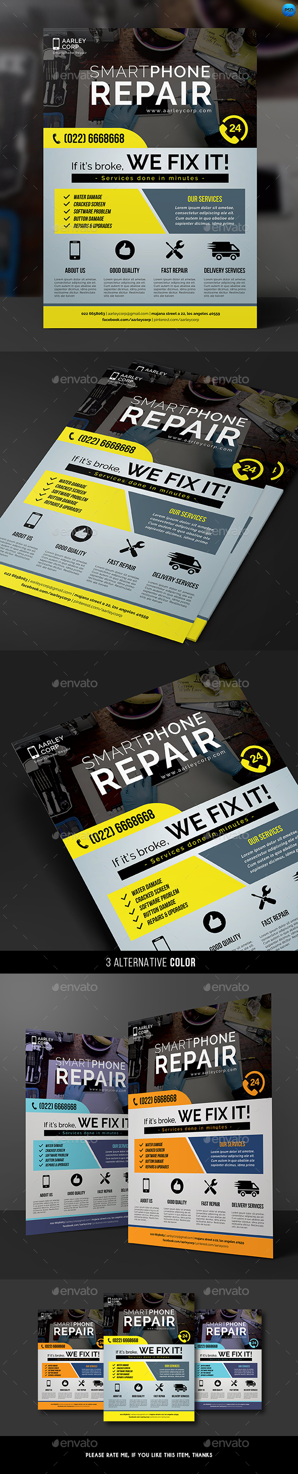 Smartphone Repair Flyer - Corporate Flyers