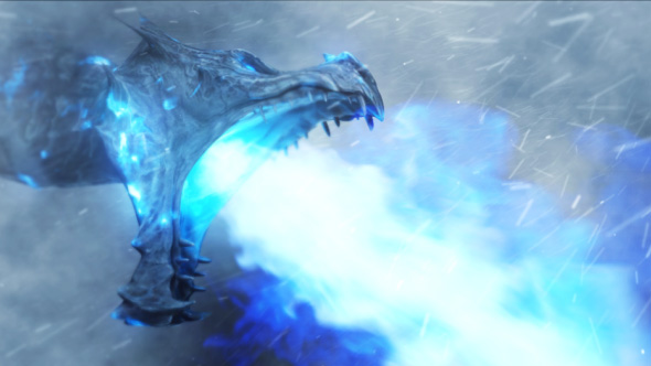 VideoHive Ice Dragon Frost Reveal 20734727
