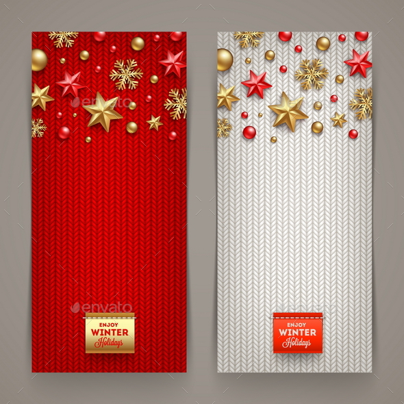 Christmas Banners - Vector Illustration - Christmas Seasons/Holidays