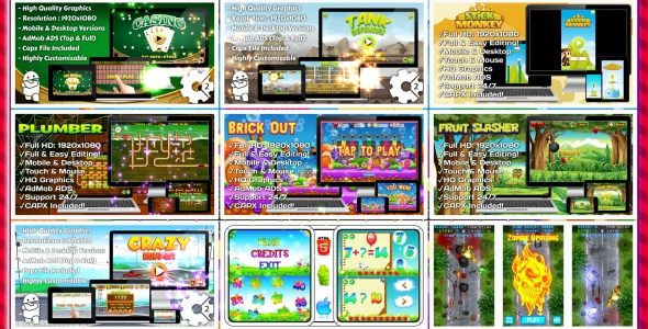 HTML5 GAMES BUNDLE №5 (CAPX) - CodeCanyon Item for Sale