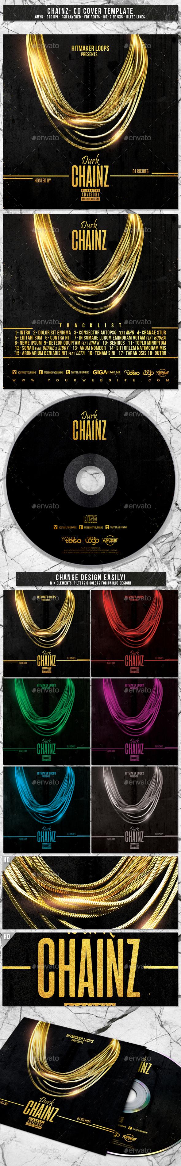 Chainz | Album CD Mixtape Cover Template - CD & DVD Artwork Print Templates
