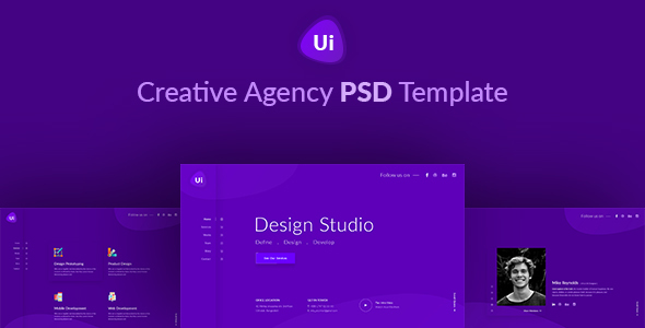 ThemeForest Design Studio Creative Agency PSD Template 20734986