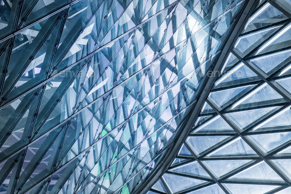 Glass curtain wall - Stock Photo - Images