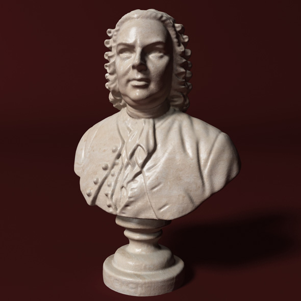 Bach Bust - 3DOcean Item for Sale