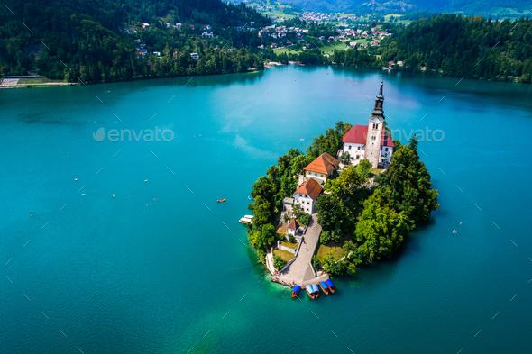 Slovenia - resort Lake Bled. - Stock Photo - Images