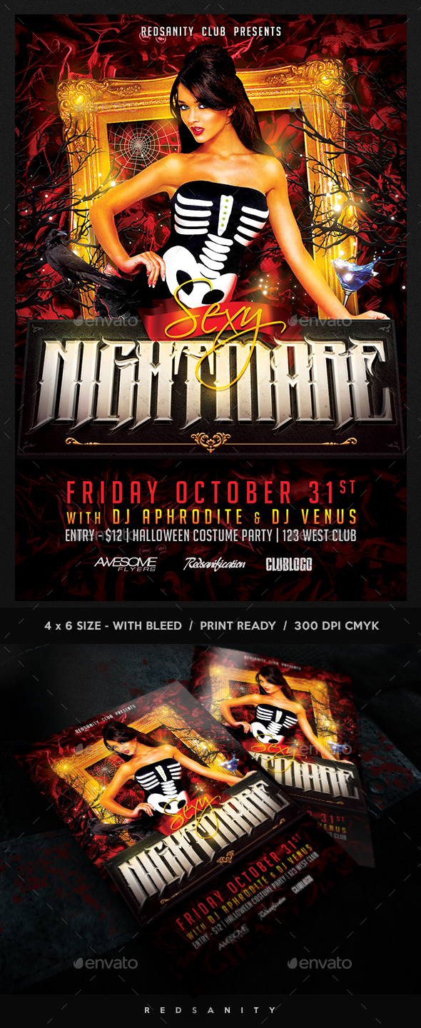 Sexy Nightmare Flyer - Clubs & Parties Events