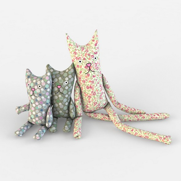 Cat textile toys kids baby room - 3DOcean Item for Sale
