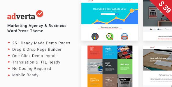 Image of Adverta – Marketing Agency & Business WordPress Theme