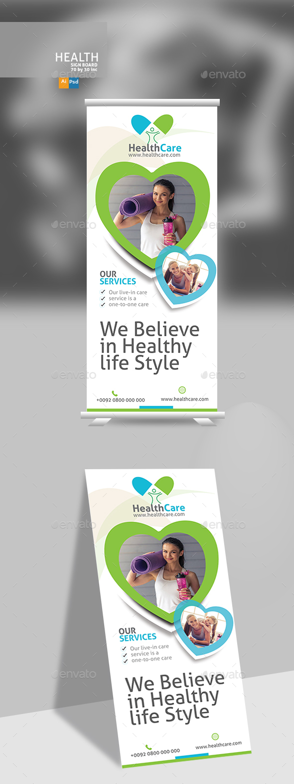 Healthy Life Signage - Signage Print Templates