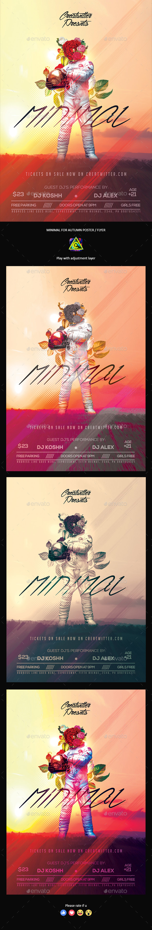 Minimal Autumn Poster / Flyer - Clubs & Parties Events