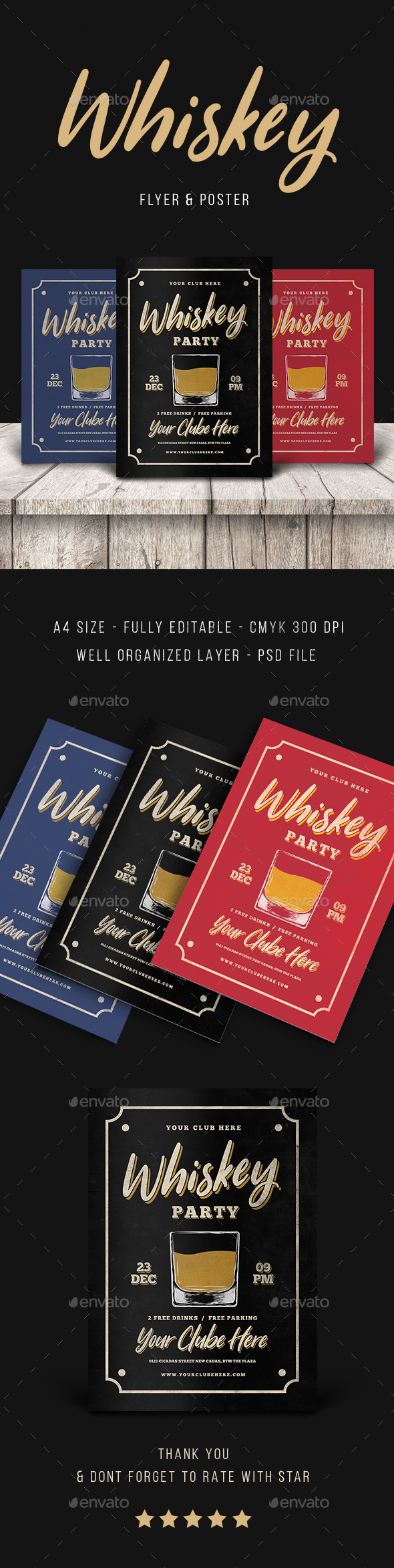 Vintage Whisky Party - Flyers Print Templates