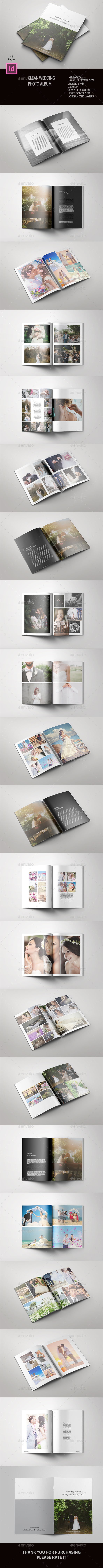 Clean Wedding Album - Photo Albums Print Templates
