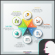 Modern Infographic Circles Template - GraphicRiver Item for Sale