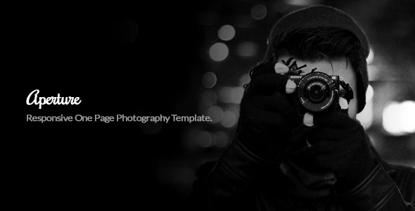 Image of Aperture Minimal One Page Photography Template