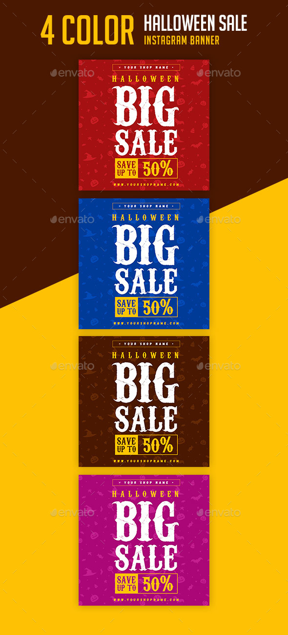 Halloween Sale Instagram Banner - Banners & Ads Web Elements