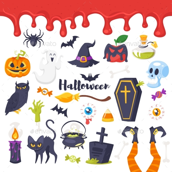 Set of Halloween Icons - Halloween Seasons/Holidays