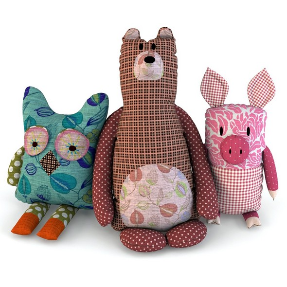 Toys bear pig owl baby - 3DOcean Item for Sale