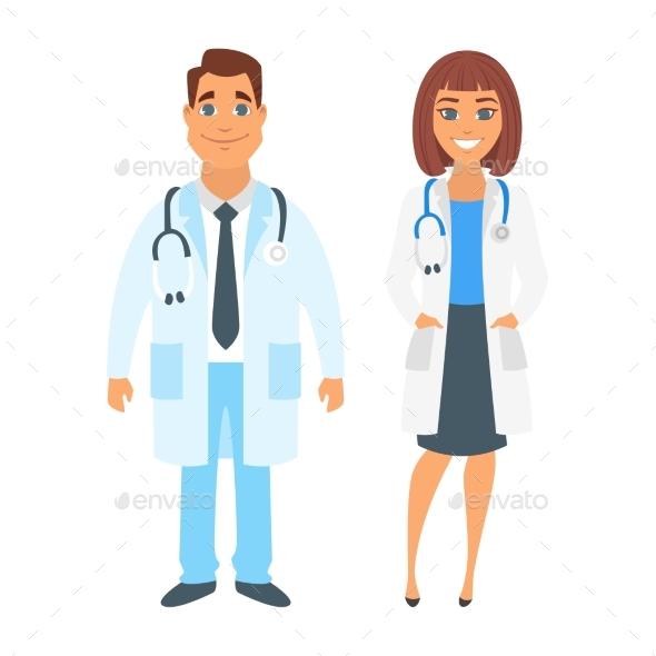 Man and Woman Doctor - Health/Medicine Conceptual