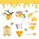 Beekeeping and Honey Illustrations