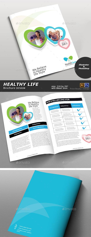 Healthy Life Brochure - Brochures Print Templates