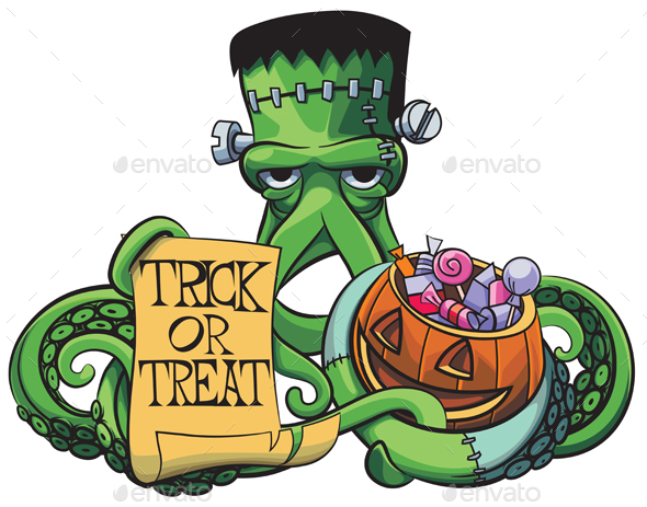 Octopus the Frankenstein - Halloween Seasons/Holidays