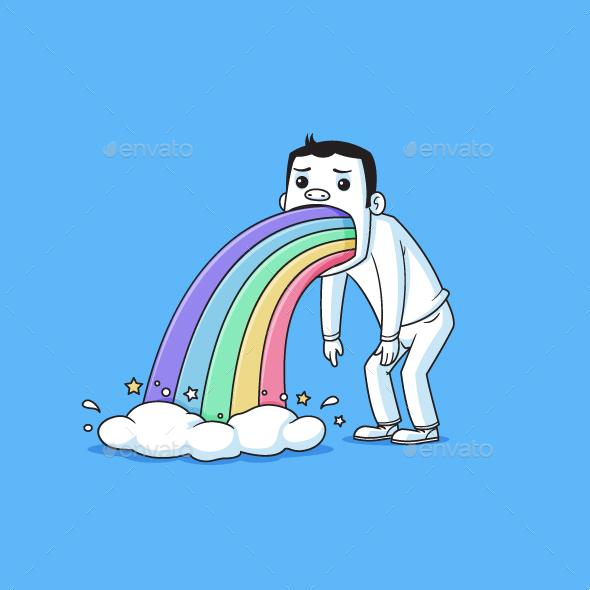 Rainbow Puke - People Characters