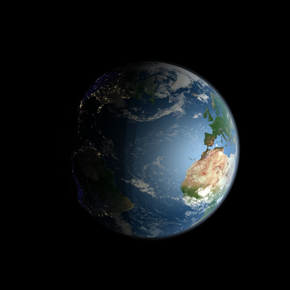 Earth with Orbit