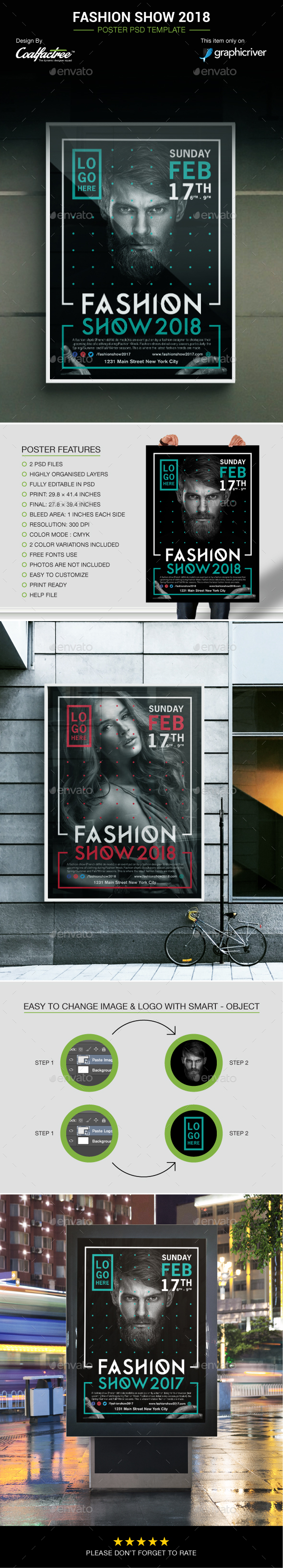 Fashion Show 2018 Poster - Events Flyers