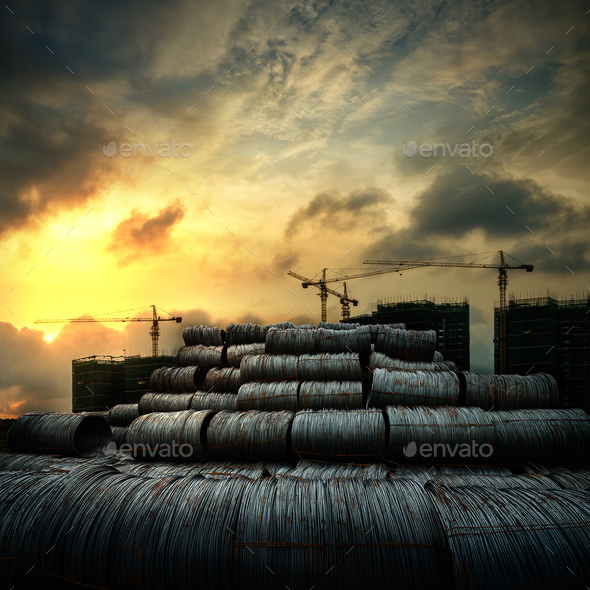 Steel rods - Stock Photo - Images