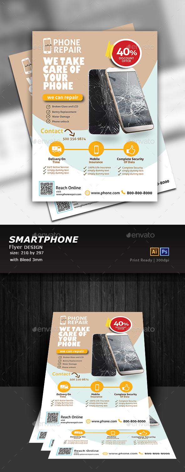 Smartphone Repair Flyer - Commerce Flyers