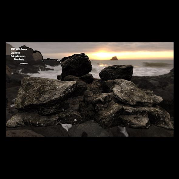 3DOcean rock 03 20737760
