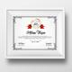 Academical Diploma Certificate Template