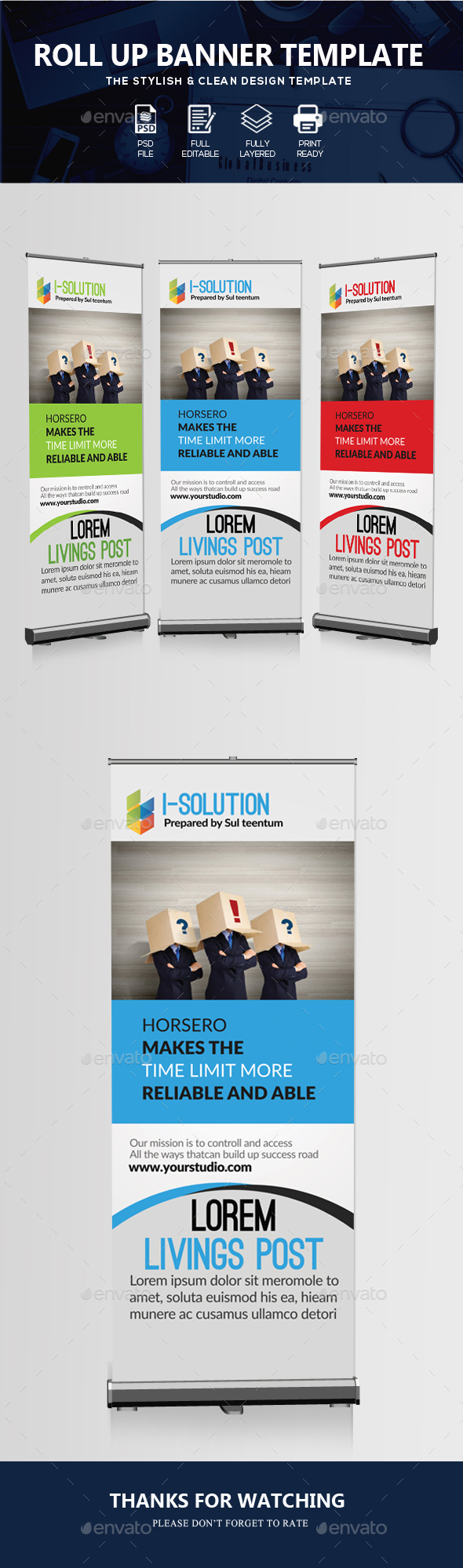 Business Identification Roll Up Banners - Signage Print Templates