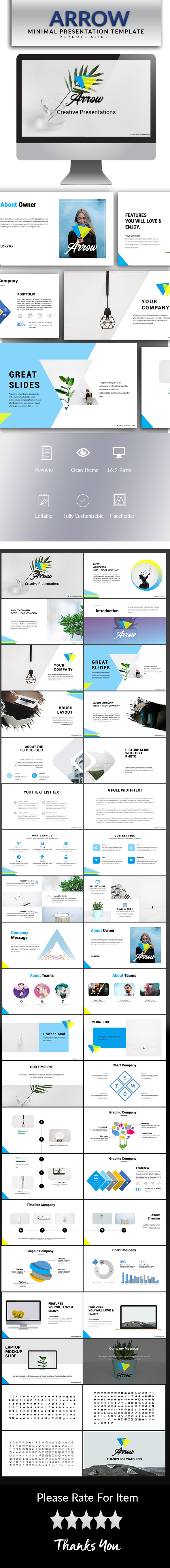 Arrow Keynote Template - Keynote Templates Presentation Templates