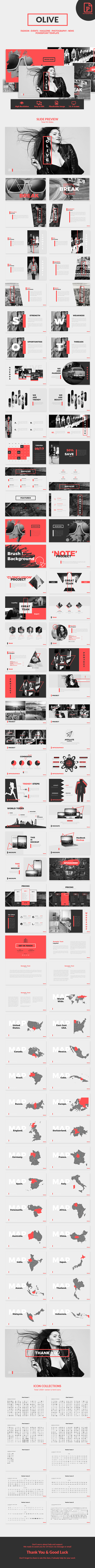 Olive - Fashion PowerPoint Template - Creative PowerPoint Templates