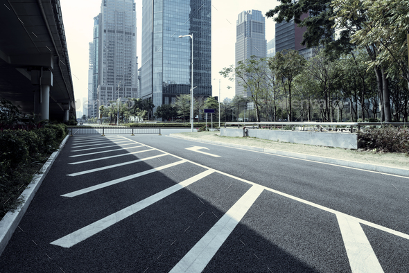 empty asphalt road - Stock Photo - Images