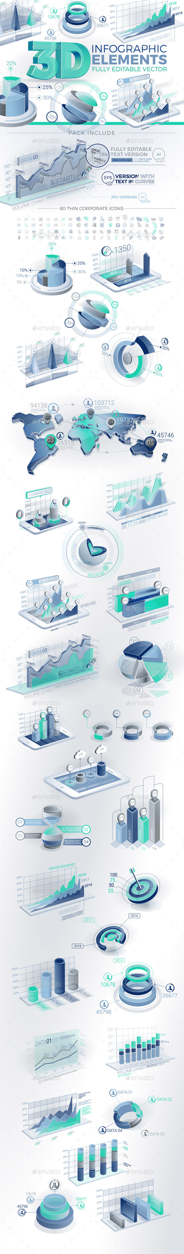 GraphicRiver 3D Corporate Infographic Elements 20738499