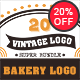 20 Bakery Vintage Labels