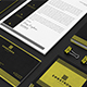 Black and Yellow Corporate Identity Template - GraphicRiver Item for Sale