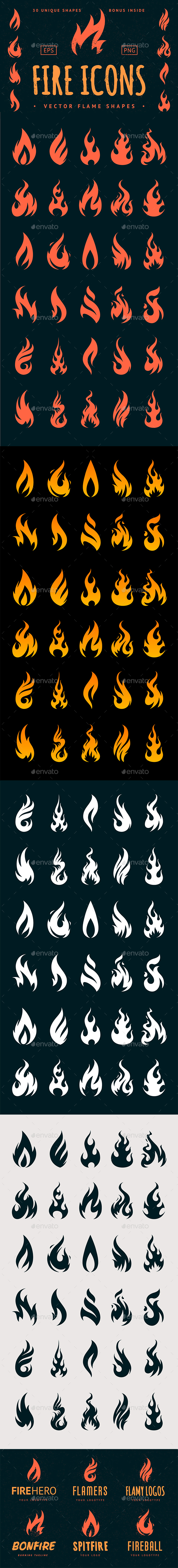 Vector Fire Icons - Miscellaneous Icons