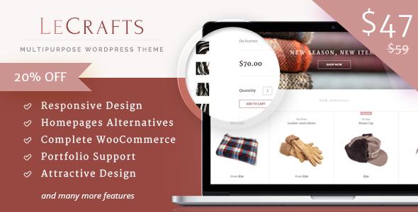 LeCrafts - WooCommerce Marketplace Themes